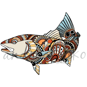 Andrea Larko Zentangle Redfish Sticker