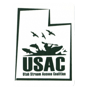 Utah Stream Access Coalition Logo Sticker