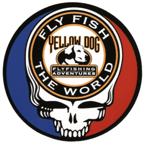 Yellow Dog Fly Fishing Steal Your Face Sticker