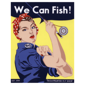TroutHunter We Can Fish Sticker