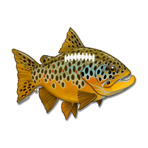 Nate Karnes Brown Trout Football Decal