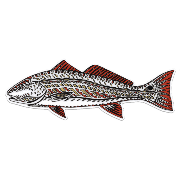 Pesca Muerta Jay Talbot Redfish Decal