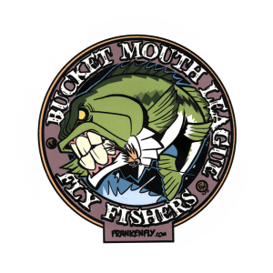 FrankenFly Bucket Mouth League Fly Fishiers Sticker