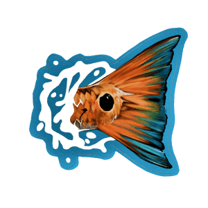 Brandon Finnorn Redfish Tail Splash Sticker