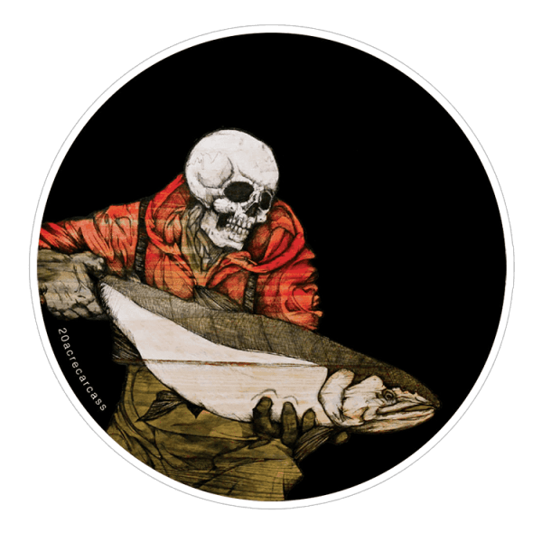 Jake Keeler Slint The Red Hooded Steelhead Sticker