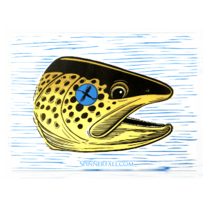 Spinner Fall Guide Service Tyler Hackett Brown Trout Sticker
