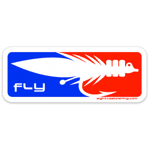 Sight Cast Salt Water Fly Fishing Fly Sticker