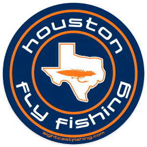 Sight Cast Salt Water Fly Fishing Huston Texas Sticker