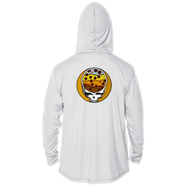 Fly Slaps Steal Your Face Brown Trout Solar Hoody Back