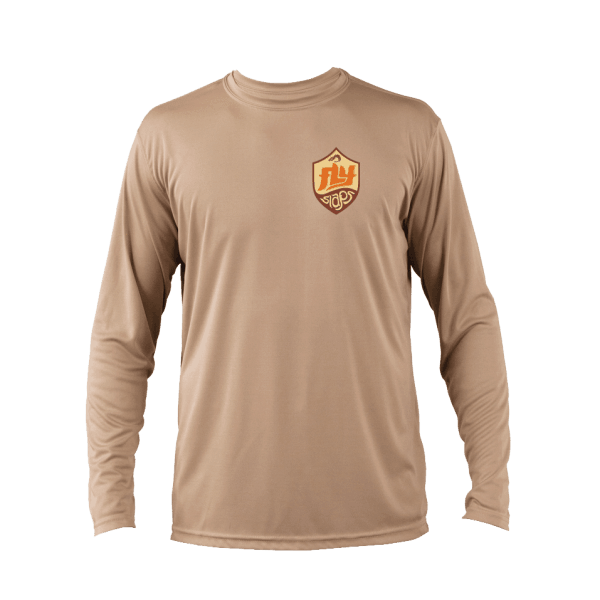 Fly Slaps Steal Your Face Brown Trout Solar Shirt