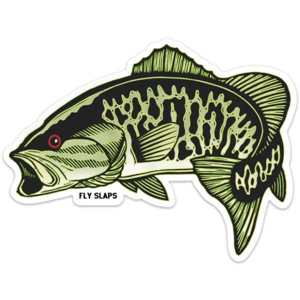 Fly Slaps Wandering Blue Lines Smallmouth Bass Sticker