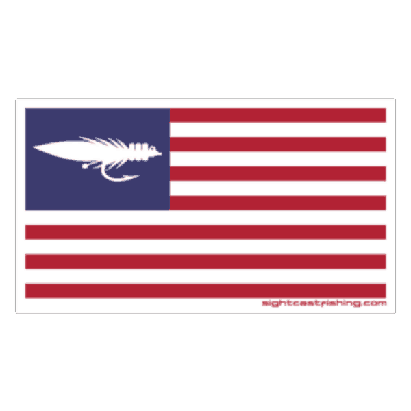 Sight Cast Fishing Company American Fly Sticker