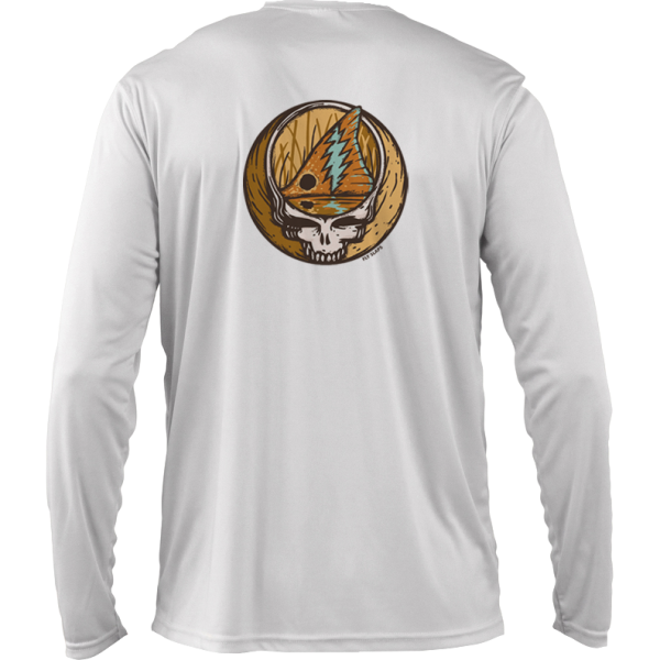 Fly Slaps Steal Your Face Redfish Solar shirt Back