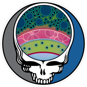 Fly Slaps Steal Your Face Rainbow Trout Sticker