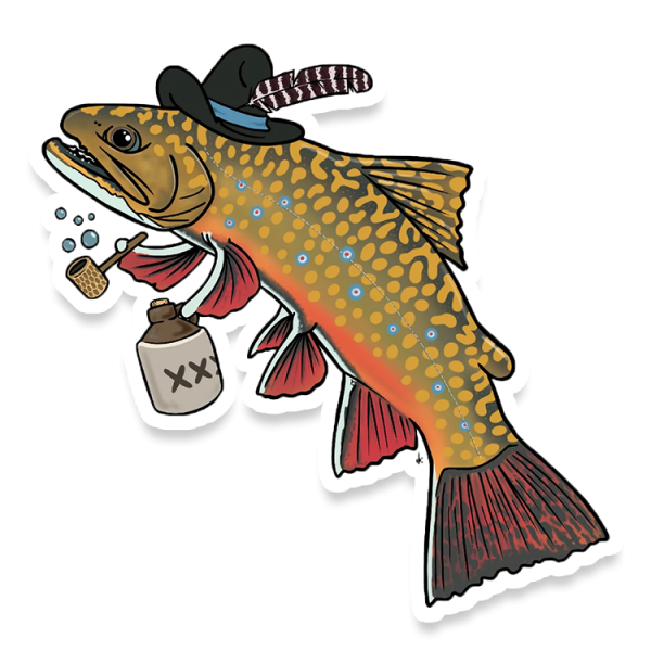 Nate Karnes Hillbilly Brook Trout Decal
