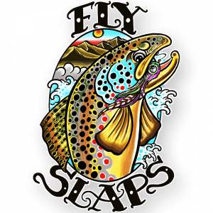 Fly Slaps x Josh May Brown Trout Sticker