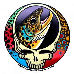 Josh May Steal Your Face Brown Trout Trout Trio Sticker