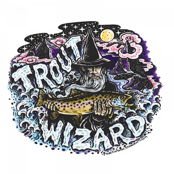 Josh May Trout Wizard Color Sticker