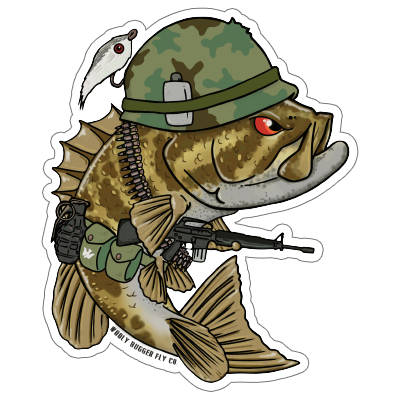 Wooly Bugger Fly Company Sergeant Smallie-SmallMouth Decal